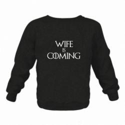 Дитячий реглан (світшот) Wife is coming