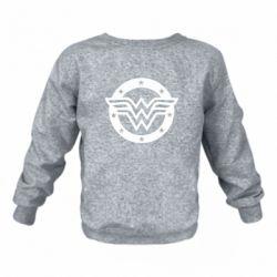 Детский реглан (свитшот) Wonder woman logo and stars