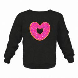 Детский реглан (свитшот) Я люблю пончик