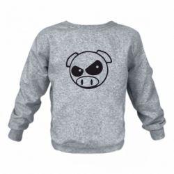 Детский реглан (свитшот) Злая свинка