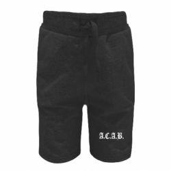 Дитячі шорти A.C.A.B