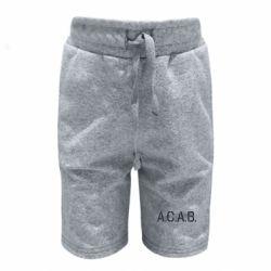 Дитячі шорти A.C.A.B.