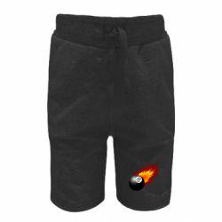 Детские шорты Бильярдный шар в огне