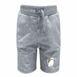 Детские шорты Cat Unicorn