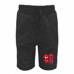 Детские шорты Дэдпул и Человек паук