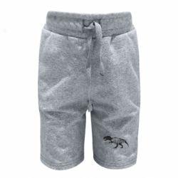Детские шорты Dinosaur text