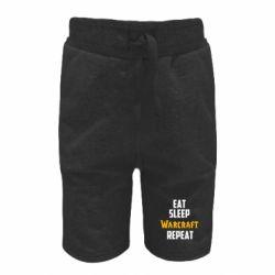 Детские шорты Eat sleep Warcraft repeat