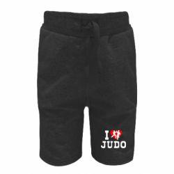 Детские шорты I love Judo