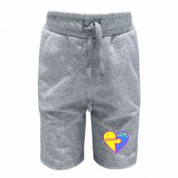 Детские шорты I love Ukraine пазлы - FatLine