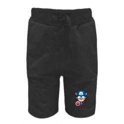 Детские шорты Маленький Капитан Америка
