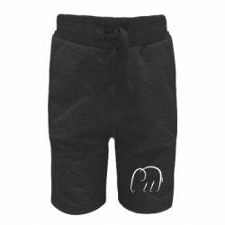 Детские шорты Minimalistic elephant