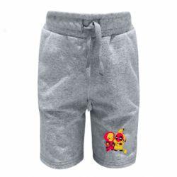 Детские шорты Pikachu and deadpool