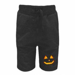 Дитячі шорти Pumpkin face features