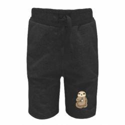 Дитячі шорти Sloth loves coffee