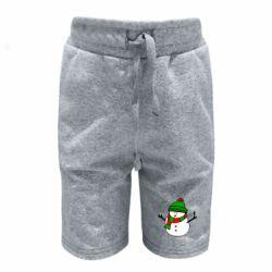 Детские шорты Снеговик
