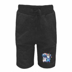 Детские шорты Стич и единорог