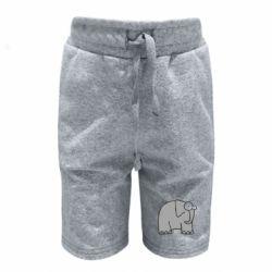 Детские шорты удивленный слон
