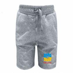 Детские шорты Ukraine квадратний прапор - FatLine