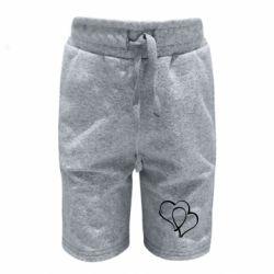 Детские шорты Влюбленные сердца