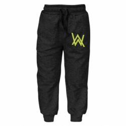 Детские штаны Alan Walker neon logo