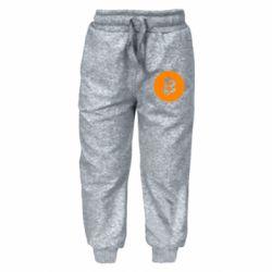 Дитячі штани Біткоин лого