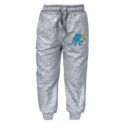 Дитячі штани Чортик з тризубом