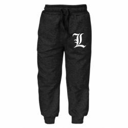 Детские штаны Death Note minimal logo