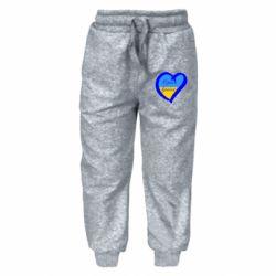 Детские штаны Єдина країна Україна (серце) - FatLine