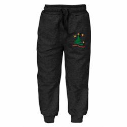 Дитячі штани Ялинка з іскрами