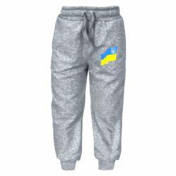 Детские штаны Флаг Украины с Гербом
