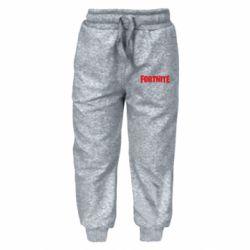Дитячі штани Fortnite text