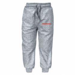 Дитячі штани Honda напис
