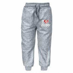 Детские штаны I love Judo