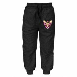 Дитячі штани Котик сфінкс рожевий