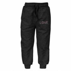 Дитячі штани lil peep: love