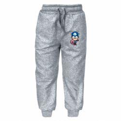 Детские штаны Маленький Капитан Америка