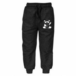 Дитячі штани Panda and heart