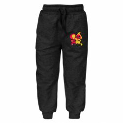 Детские штаны Pikachu and deadpool