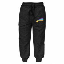 Дитячі штани Print Mabel star and rainbow