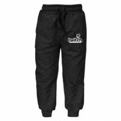 Дитячі штани Twitch logotip