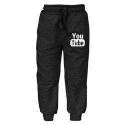 Дитячі штани Youtube vertical logo