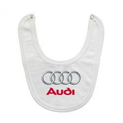 Слюнявчик  Audi 3D Logo - FatLine
