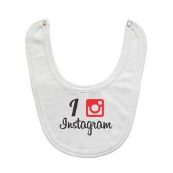 Слюнявчик  I love Instagram - FatLine