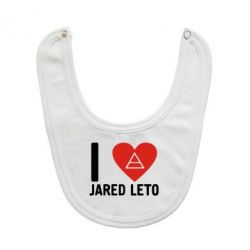 Слюнявчик  I love Jared Leto - FatLine