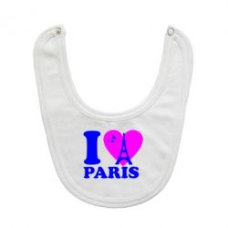 Слюнявчик  I love Paris - FatLine