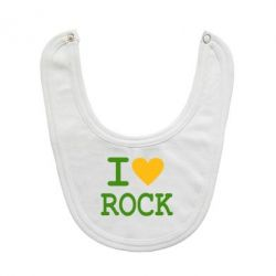Слюнявчик  I love rock - FatLine