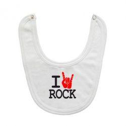 Слюнявчик  I love rock - FatLine