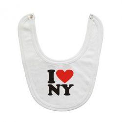 Слюнявчик  Люблю Нью Йорк - FatLine