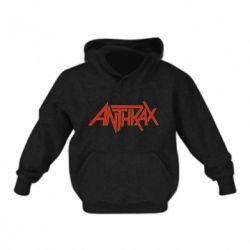 Детская толстовка Anthrax red logo
