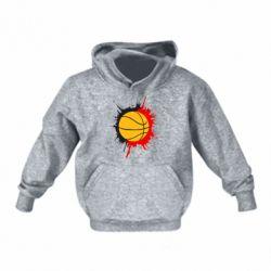 Детская толстовки Баскетбольный мяч - FatLine